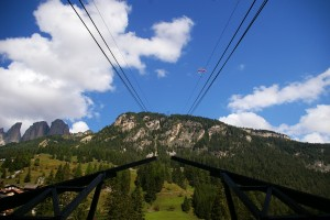 View from Campitello cable car